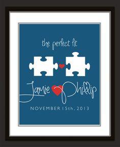 Personalized Wedding Present // Custom Anniversary Gift // Monogram// Housewarming Gift //Custom //Wedding Art