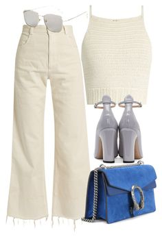 """""""Sin título #3140"""" by camilae97 ❤ liked on Polyvore featuring SHE MADE ME, Rachel Comey, Gucci and Valentino"""