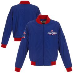 Chicago Cubs JH Design Women s 2016 World Series Champions Bomber Jacket -  Royal 9cee5b3468