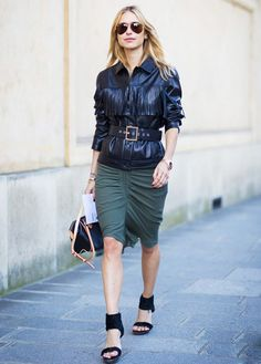 LEATHER FRINGE--The Latest Textures to Add to Your Closet via @WhoWhatWear