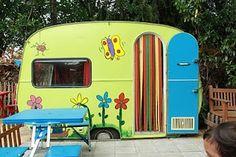 Kid's playhouse - old camper trailer