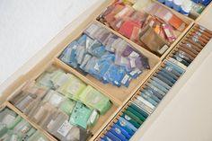 Nihonga pigments, Fuyuko Matsui studio, Japan