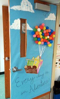 Classroom door decorating, spring classroom decorations- www School Displays, Classroom Displays, Classroom Themes, School Classroom, Classroom Door Decorations, Future Classroom, Art Classroom, Google Classroom, Disney Theme