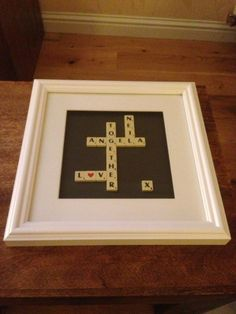 Scrabble Art Engagement Present
