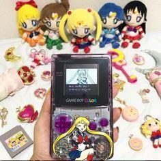 Game Boy, Nintendo Games, Nintendo Consoles, Custom Consoles, Gamers, Nostalgia, Sailor Moon, Favorite Things, Aesthetics