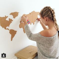 Looking for some Monday motivation? Get a cork board map on your wall and start planning your next adventure!  by @vivimattssonn #monday #mondaymotivation #motivationmonday #travel #wanderlust #interiordesign #decor #cork #pinboard #travelplans #travellife #traveladdict #travelbug #takemethere #letsgo #travelswag #corkboardmap #luckiesoflondon