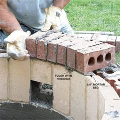 DIY build a fire pit, want to try this in the backyard.