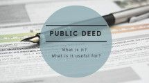 Public deed: what is it? and what is it useful for?