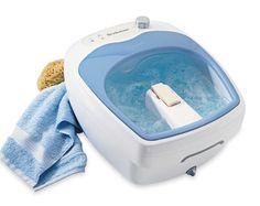 Aqua-Jet Heated Foot Spa® Massage Portable Heat Bath Vibration Bubbles Kneading