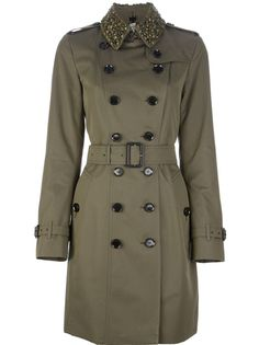 BURBERRY LONDON - embellished collar trench coat