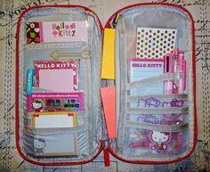 Hot Pink Travel Organizer Case With Hello Kitty Inspired Accessories Filofax Kate Spade Kikki K Erin Condren Smash Book Midori Journal