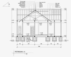 Contoh Gambar Potongan Rumah Minimalis menggunakan Autocad - Griya Bagus Bullet Journal School, Building Art, Concept Architecture, Civil Engineering, Minimalist Home, Autocad, House Plans, Floor Plans, Construction