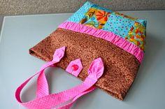 moldes de Como hacer un bolso de tela forrado y reforzado