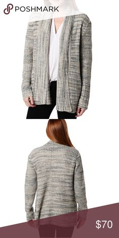 💥Flash Sale💥 Heather Gray Open Front Cardigan - **Reasonable Offers Welcome - No trades** - Shawl neck - Long sleeves - Open front - 2 side welt pockets - Allover knit pattern with ribbed accents - Imported - Fiber Content - 56% cotton, 37% acrylic, 7% polyester - Machine wash cold gentle Three Dots Sweaters Cardigans
