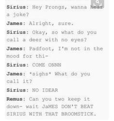 Is that implying that James can beat him up with a different broomstick?