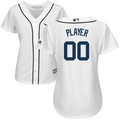 01d1dae15 Women Detroit Tigers Custom Name number Cool Base Baseball Jersey