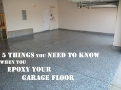 (source) I love a clean garage. I am a woodworker, and I have dust collection systems that help keep it this way. When you epoxy your garage floor, it not only looks nicer, but it also protects it from oil and grease and makes the garage floor much easier