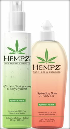 Supre Tan Hempz After Sun Cooling Spray & Body Hydrator and Hydrating Bath & Body Oil keep skin hydrated with a light-weight formula.