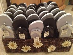 57 best Wedding flip flop baskets images on Pinterest | Wedding ...