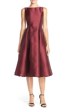 Adrianna Papell Sleeveless Mikado Fit & Flare Midi Dress (Regular & Petite) available at #Nordstrom