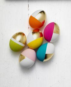 Smukke æg med bladguld!