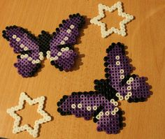 Butterflies hama perler beads by NotAPerfectGırl ♥
