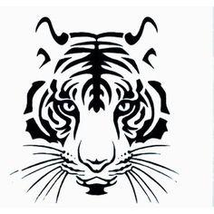 Minimalistic tiger