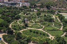 Parc Cervantes.Barcelona, Catalunya, Spain