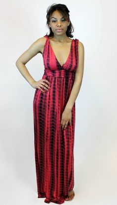 Vamped Boutique - To Dye For Maxi Dress in Red | Umgee, $42.00 (http://vampedboutique.com/to-dye-for-maxi-dress-in-red-umgee/) #tyedye #maxidress #ootd