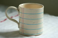 Hey, I found this really awesome Etsy listing at http://www.etsy.com/listing/153485071/notebook-paper-cup-on-ceramic