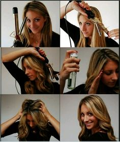 Curl your hair using iron on Valentines day
