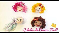 Como Fazer Cabelos de Bonecas  - 4 modelos Fácil e Lindo!! - YouTube Primitive Doll Patterns, Fabric Dolls, Christmas Ornaments, Holiday Decor, Handmade, Stuffed Toys, Tutorial, Youtube, Doll Hair