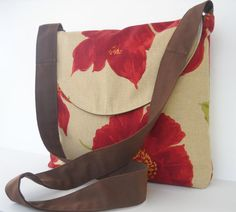 Messenger Bag in Red Rustic Poppy