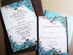 Lavish Lace Graphic Wedding Invitations