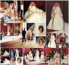 July Lady Diana Spencer marries Prince Charles at St. Prince Charles Wedding, Charles And Diana Wedding, Princess Diana And Charles, Princess Of Wales, Diana Wedding Dress, Princess Diana Wedding, Wedding Dresses, Royal Brides, Royal Weddings