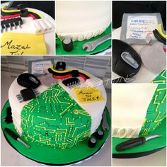 Motherboard computer themed cake perfect for a programmer or tech geek!