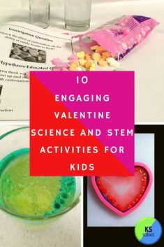 Explore the world around you with a Valentine's theme.  These hands-on science and STEM activities use candy and other easy to find supplies.  They are perfect for the classroom, party, science club, and scout group.  Kids will discover density, heartrate, circuits, towers, and more.  You will find links to complete lesson plans. Kindergarten Science Activities, Stem Activities, Activities For Kids, Winter Activities, Food Science Experiments, Science Lessons, Chemistry For Kids, Scout Group, Science Valentines