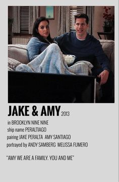 Iconic Movie Posters, Iconic Movies, Film Posters, Love Isnt Real, Brooklyn Nine Nine Funny, Poster Minimalista, Jake And Amy, Tv Show Couples, Jake Peralta
