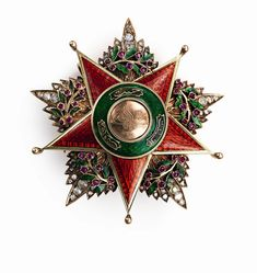 Order of Charity (Nişan-ı Şefkat) (Ottoman Empire) – First Class Star (diamonds, rubies, gold, enamels, 75mm)