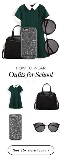 """""""Untitled #467"""" by g8merluna on Polyvore featuring Furla, Yves Saint Laurent, women's clothing, women, female, woman, misses and juniors"""