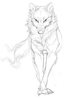 Pin by vanessa villarreal on art/drawing wolf sketch, draw, sketches. Wolf Sketch, Sketch Art, Drawing Sketches, Cool Drawings, Pencil Drawings, Drawing Ideas, Drawing For Kids, Anatomy Sketches, Drawing Tips