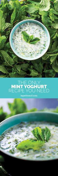 A simple, versatile yoghurt sauce that makes a meal of salads, wraps, meat or just dive in and use it like a dip with crisps or crudités. All you need is mint, yoghurt, garlic and lemon and you're ready to go!