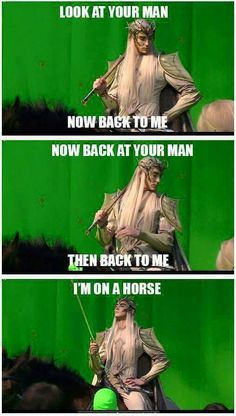 Thranduil is on a horse!