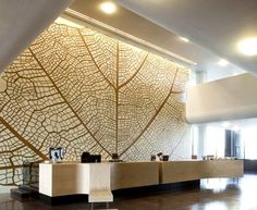 Laser cut screens at Court of Justice by J. Mayer H. Architects architecture wall pattern