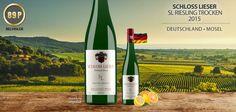 """Schloss Lieser """"SL"""" Riesling trocken vom Weltklasse Weingut - http://weinblog.belvini.de/schloss-lieser-riesling-sl"""