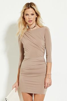 Gathered-Side Bodycon Dress | Forever 21 - 2000168354