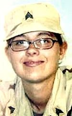 Army SGT Jessica M. Housby, 23, of Rock Island, Illinois. Died February 9, 2005, serving during Operation Iraqi Freedom. Assigned to 1644th Transportation Company, Illinois Army National Guard, Rock Falls, Illinois. Died of injuries sustained when an improvised explosive device detonated near her vehicle during combat convoy operations on Route Golden in Balad, Salah ad Din Province, Iraq.