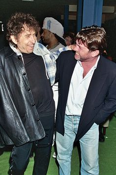 With Wenner at the Rock Hall of Fame, 1995.