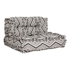 Hang Loose Floor Cushion Aztec White – The Family Love Tree