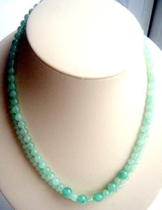 Peking glass very cool necklace  2 thread  от ODMIVINTAGE на Etsy
